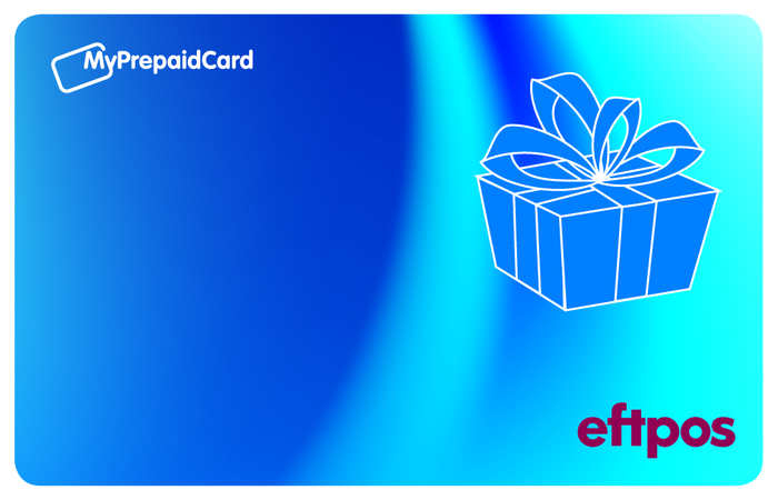 Large blue box eftpos card front