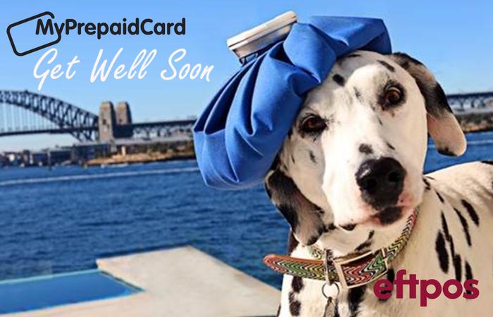 MyPrepaid Card Get Well Soon Dog