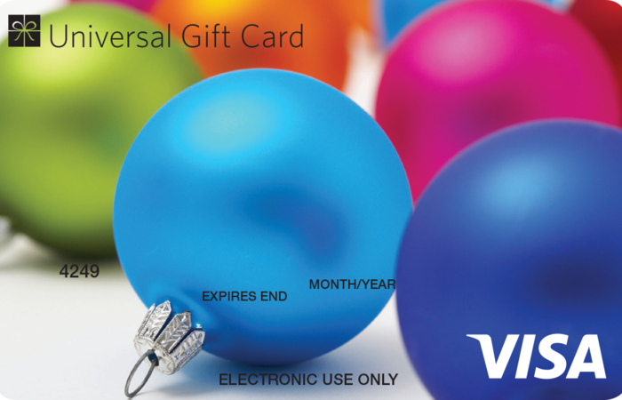 Large baubles ugc visa card