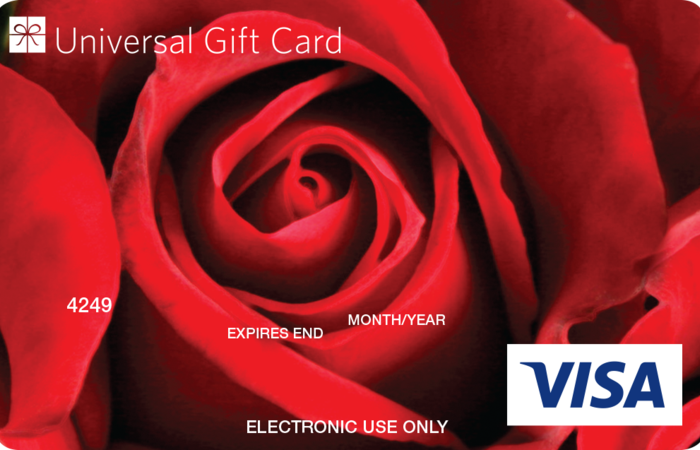 Large red rose ugc visa card