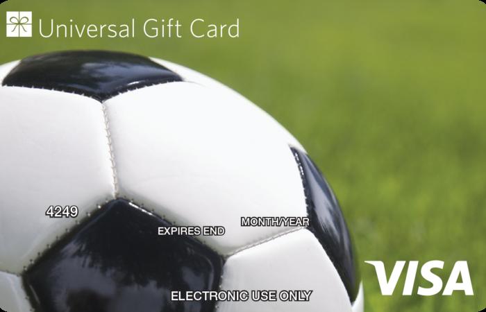 Universal Visa Gift Card Soccer Ball
