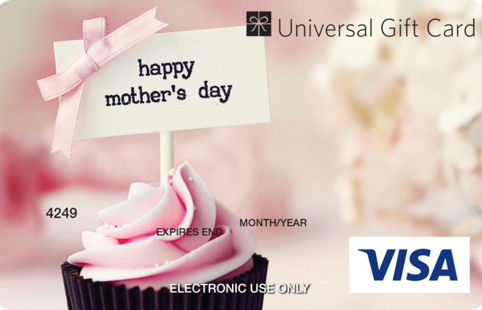 Large mothers day ugc visa card
