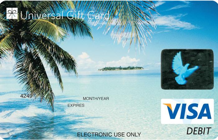 Universal VISA Gift Card Bon Voyage