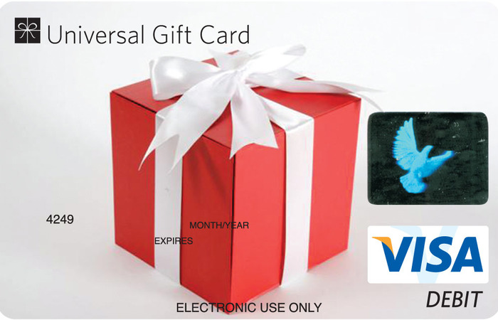 Universal VISA Gift Card Gift Box