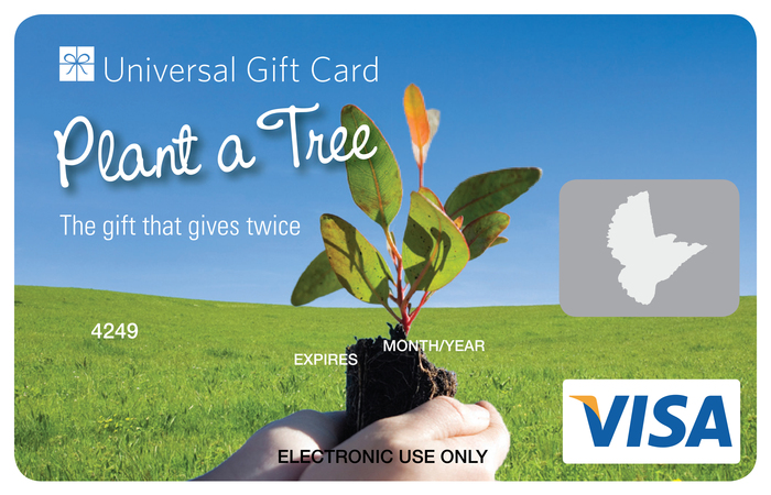 Universal visa gift card plant a tree negle Images