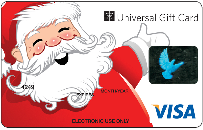 Gift cards gift vouchers and visa gift cards from gift card store universal visa gift card santa claus negle Images