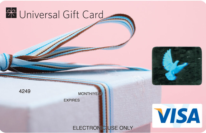 Universal VISA Gift Card Wedding Present