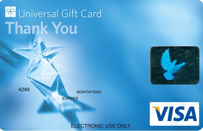 Universal VISA Gift Card Thank You Blue