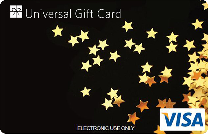 Universal VISA Gift Card Black Star