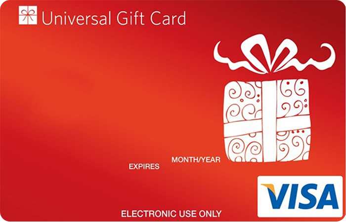 Universal Visa Gift Card Red