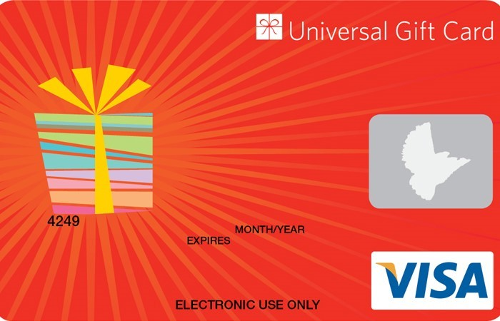 Universal VISA Gift Card Red Present